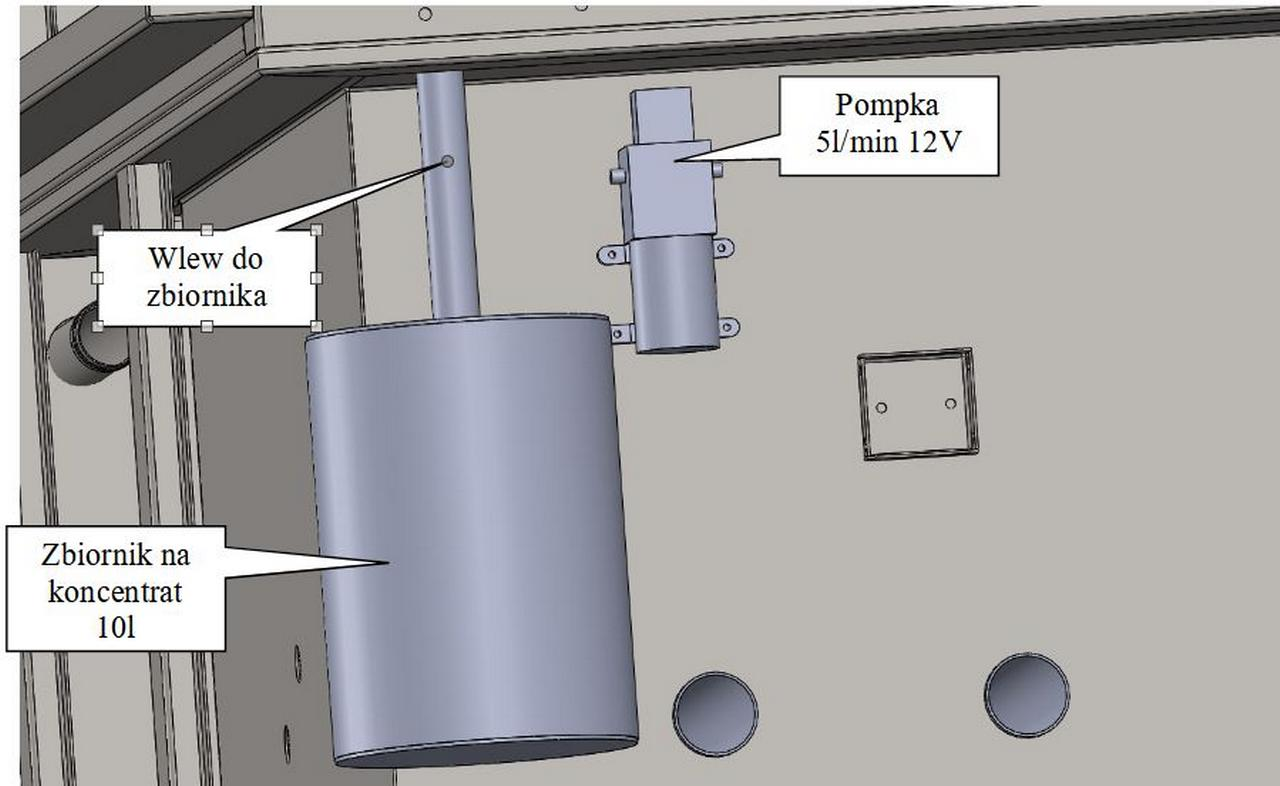 Automatyczny dozownik detergentu otomatic maszyny